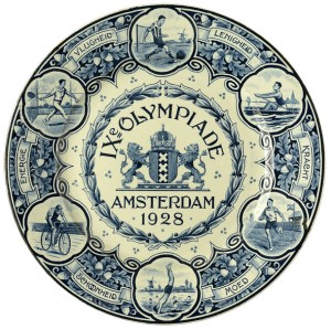Olympics memorabilia plate 1928 Amsterdam