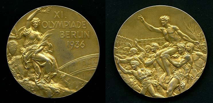 Fashion week Gold olympic medal 1936 for lady