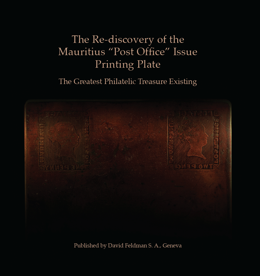 "The Re-discovery of the Mauritius ""Post Office"" Issue Printing Plate Book Cover"