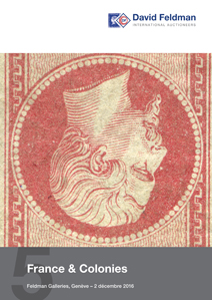 Stamps auction cover catalogue France