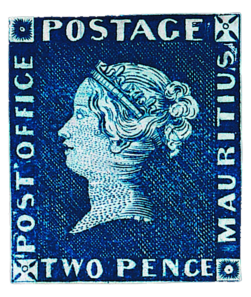 "The Mauritius ""Post Office"" Two Penny Blue"