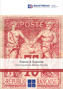 Stamp auction catalogue France 2017