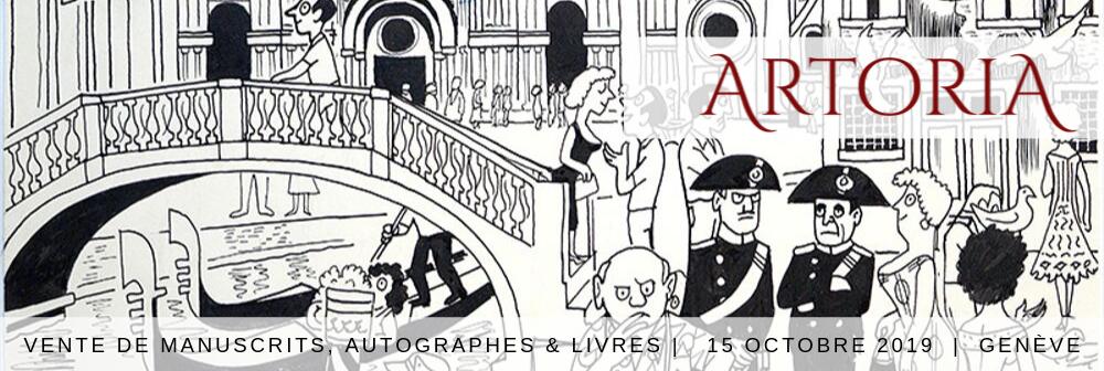 Vente d'autographes, manuscrits et livres anciens