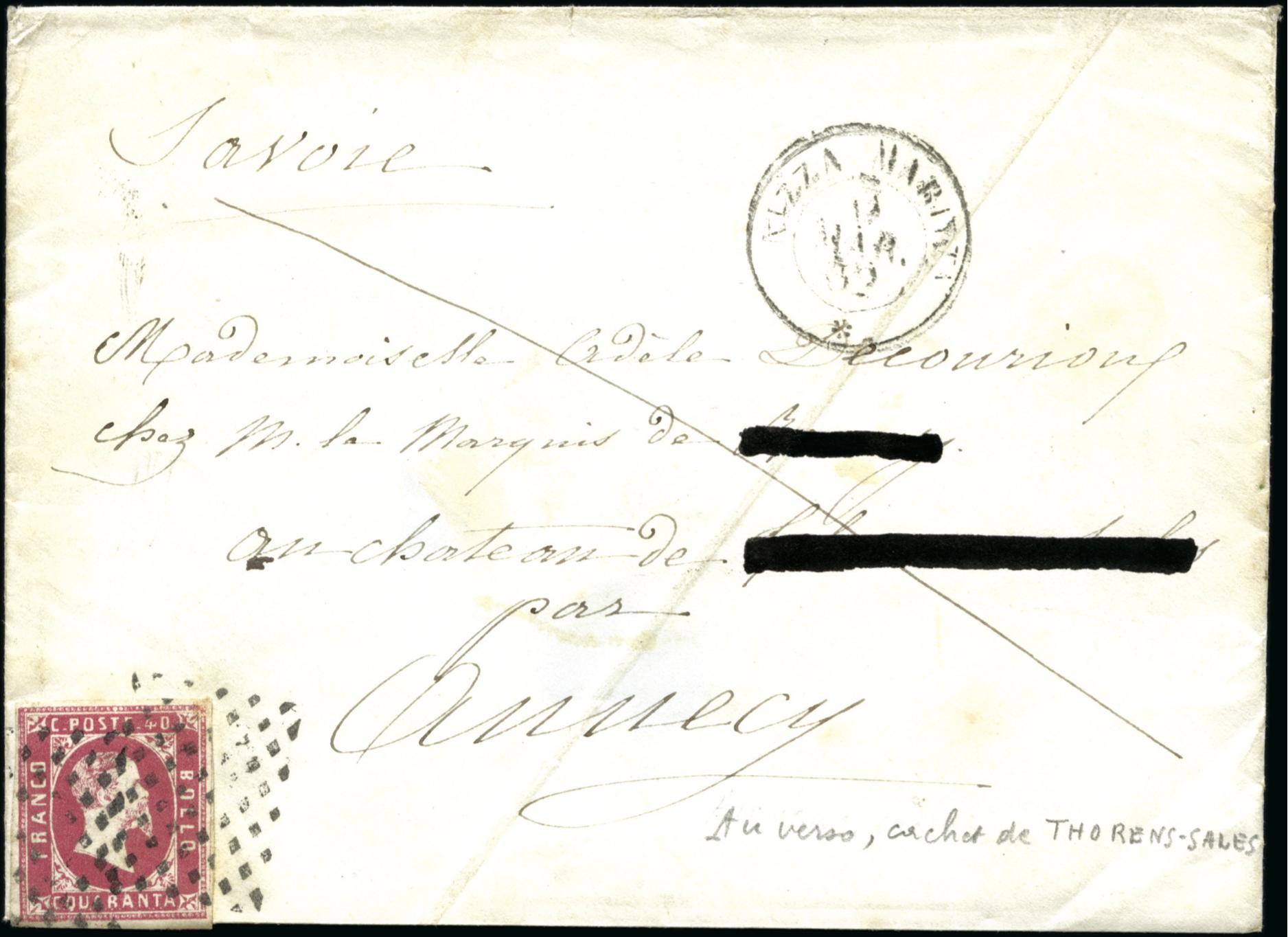 Enveloppe philatélie Annecy