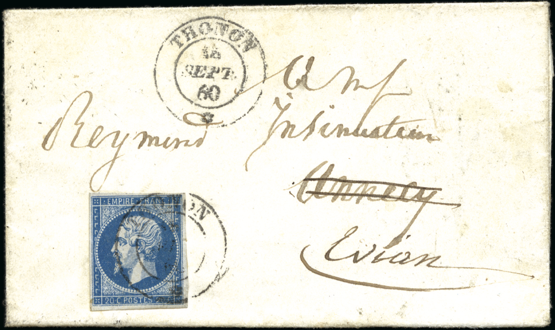 Enveloppe Annecy Evian Philatélie