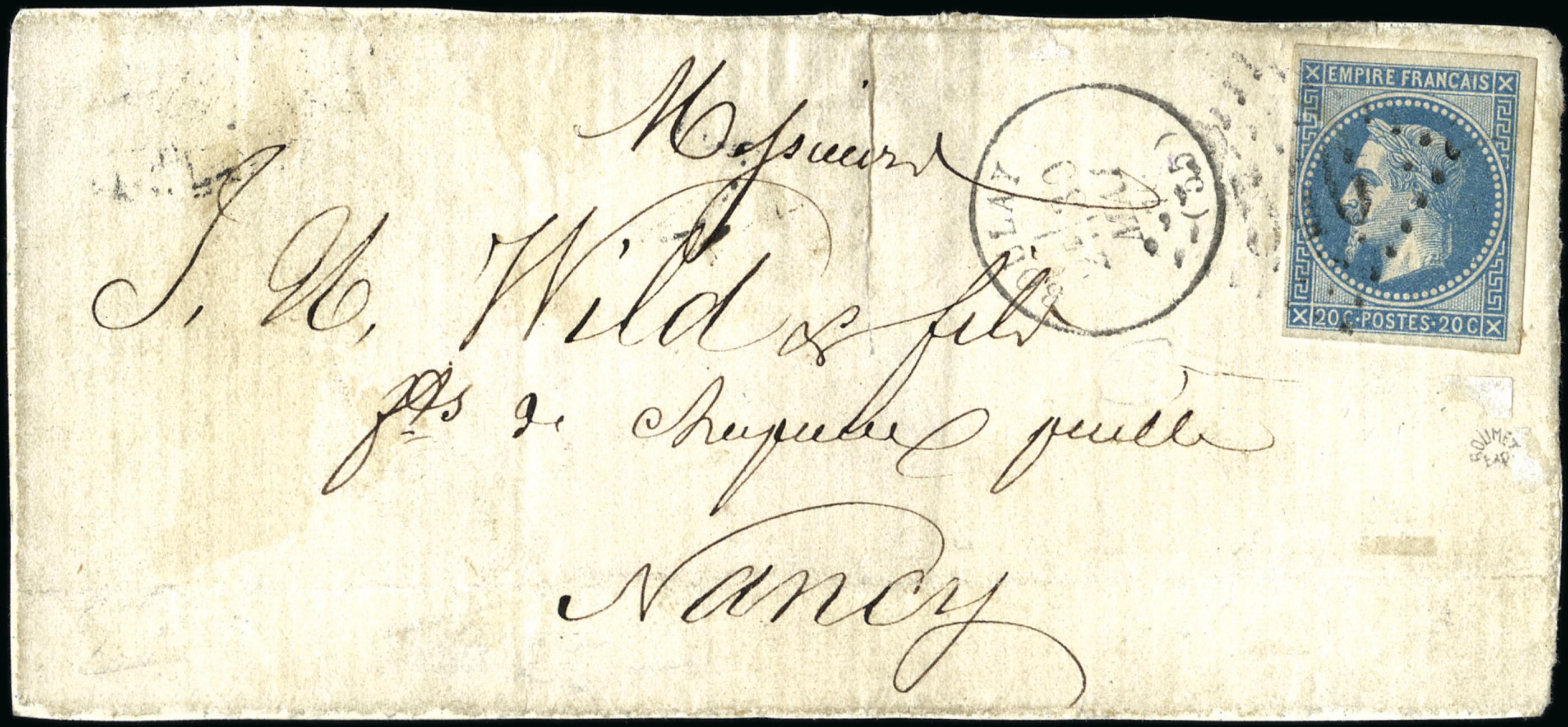 Lettre Nancy Philatélie