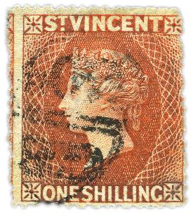 St. Vincent stamps vermillion