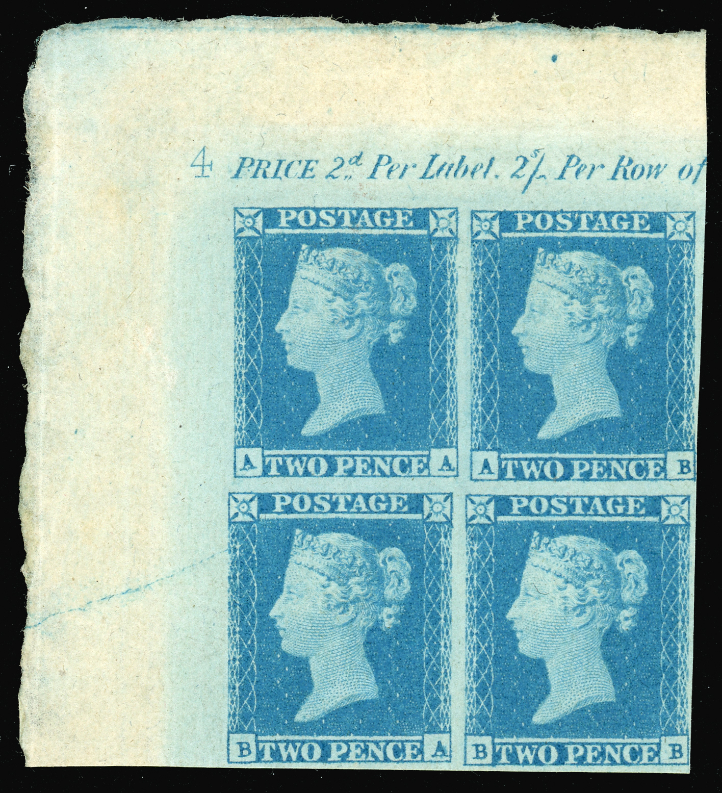 2d Pence Blue plate 4