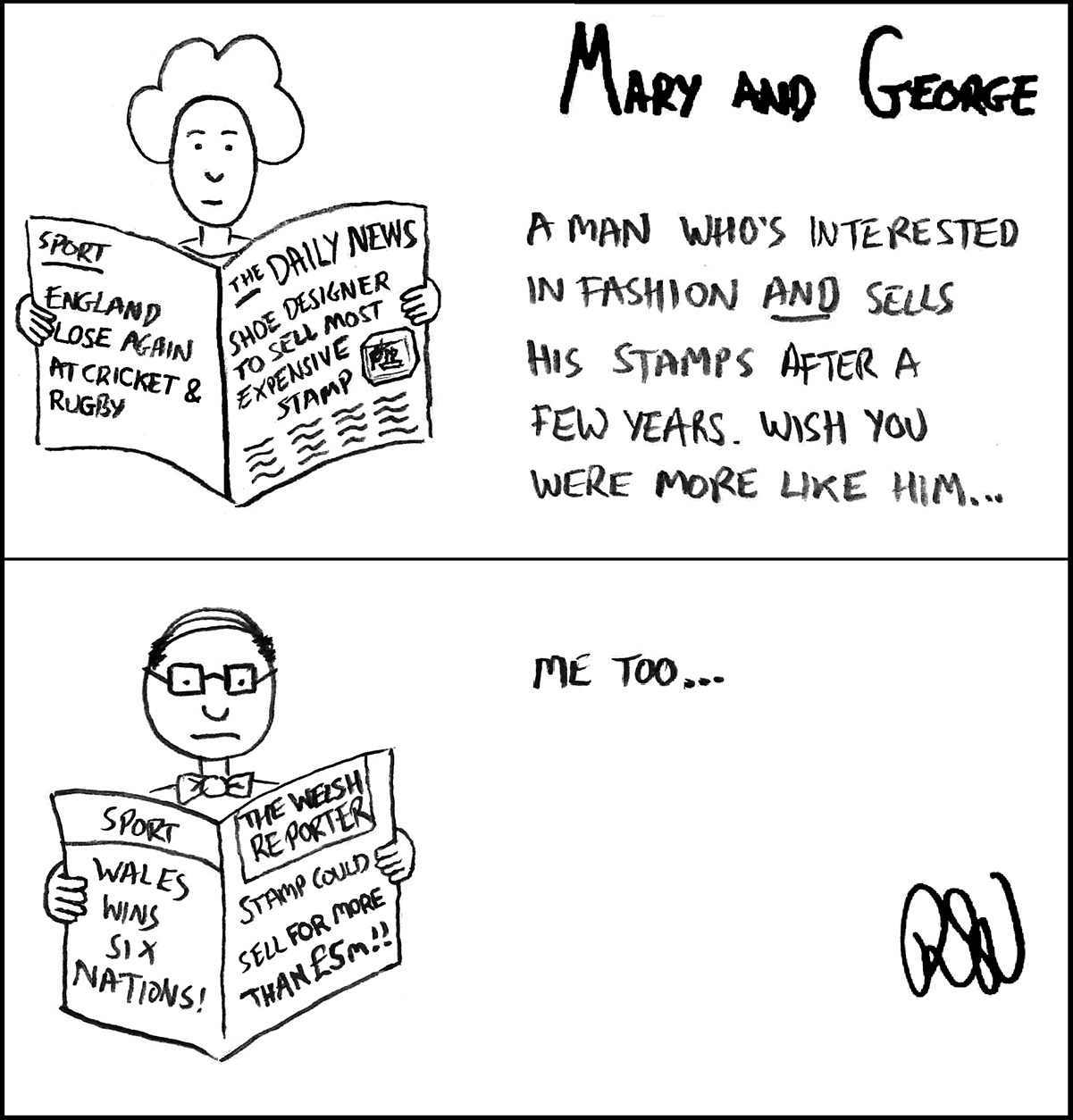 Cartoon Mary and George episode #24