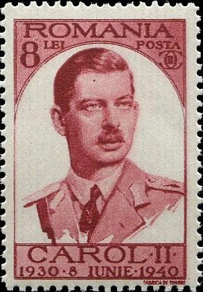 king carol II stamp