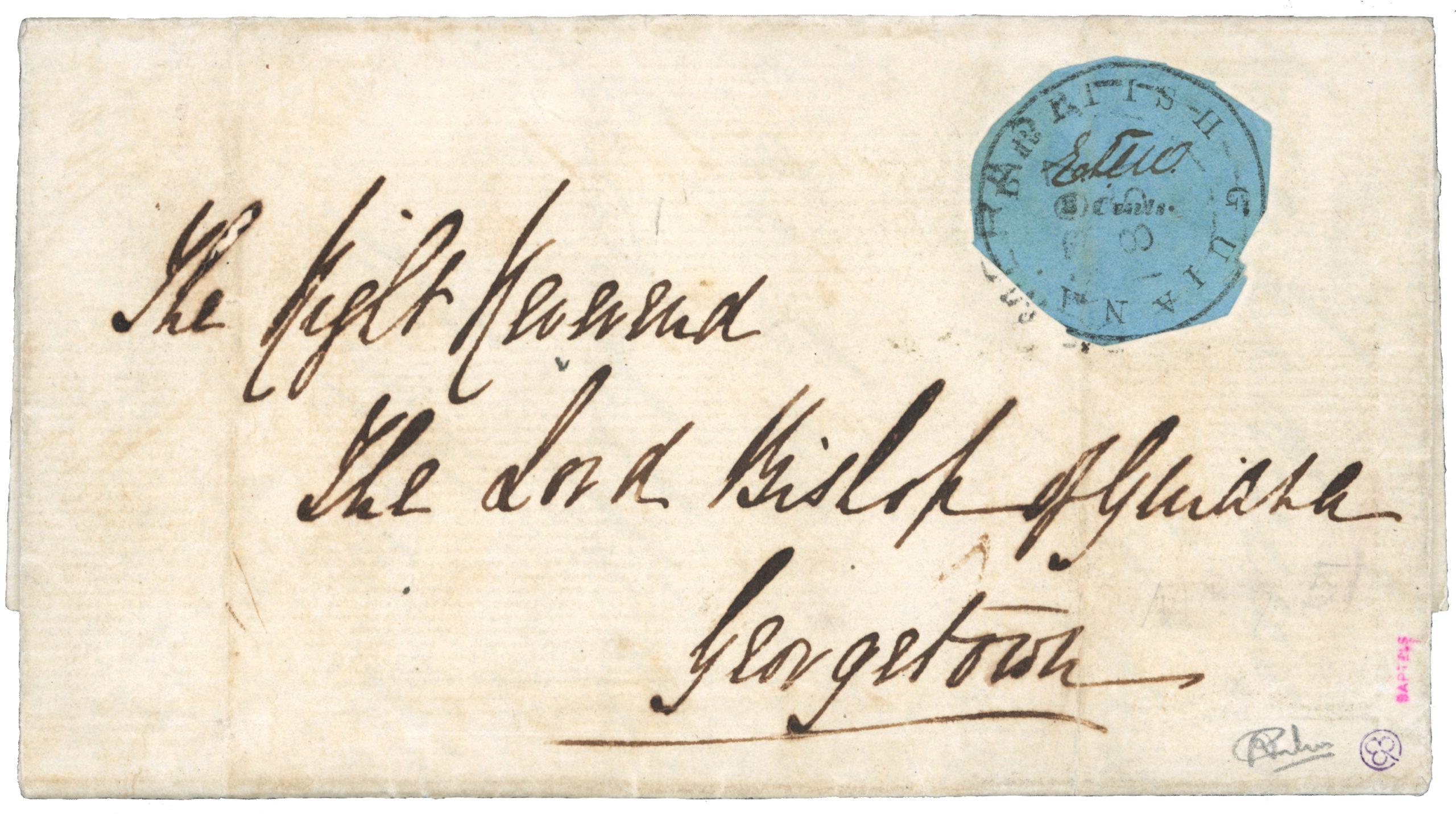 Cover British Guiana 12 cents