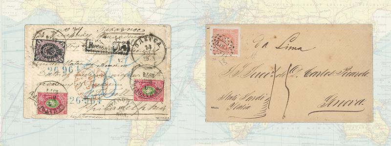 American Transatlantic Mail Routes